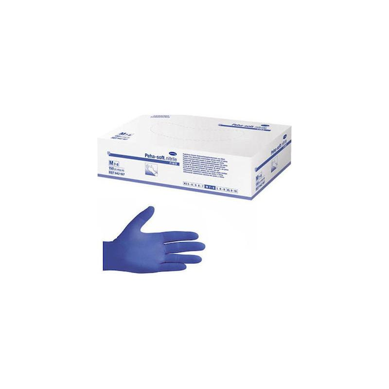 Γάντια νιτριλίου μιας χρήσης Hartmann Large 150 τεμάχια