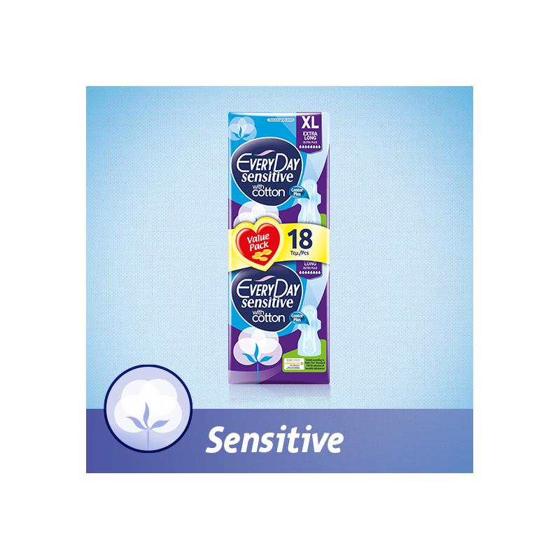 EveryDay Ultra Plus Sensitive with cotton Extra Long 18 τεμαχίων