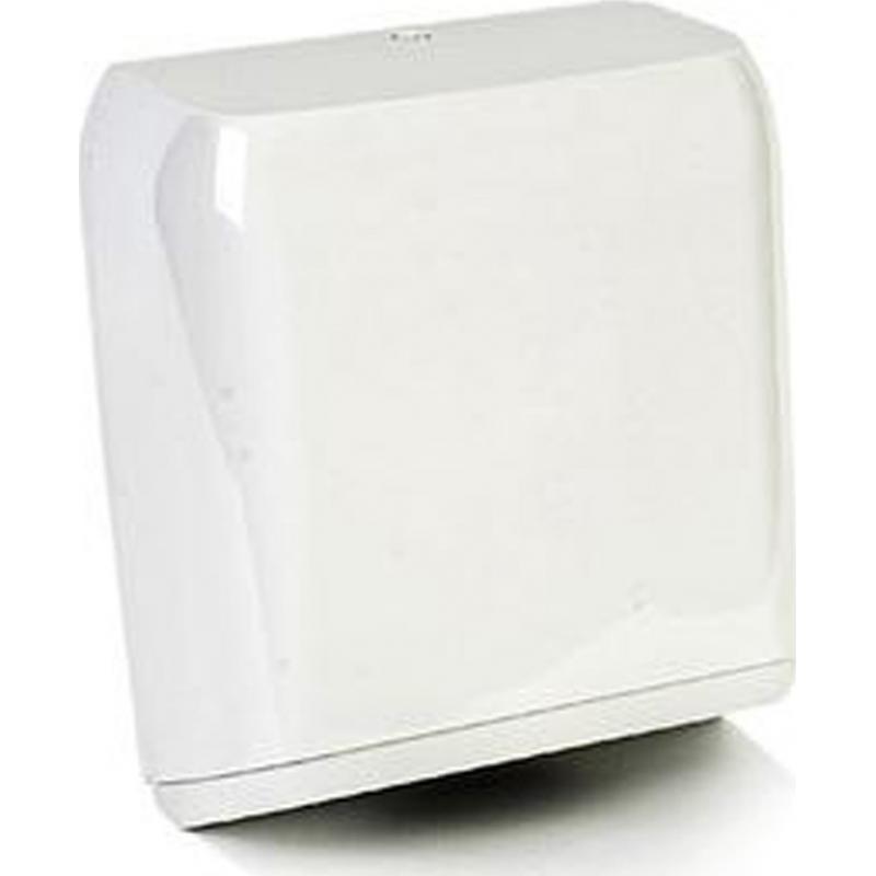 Επαγγελματική συσκευή χειροπετσέτας πλαστική 500 φύλλων λευκή