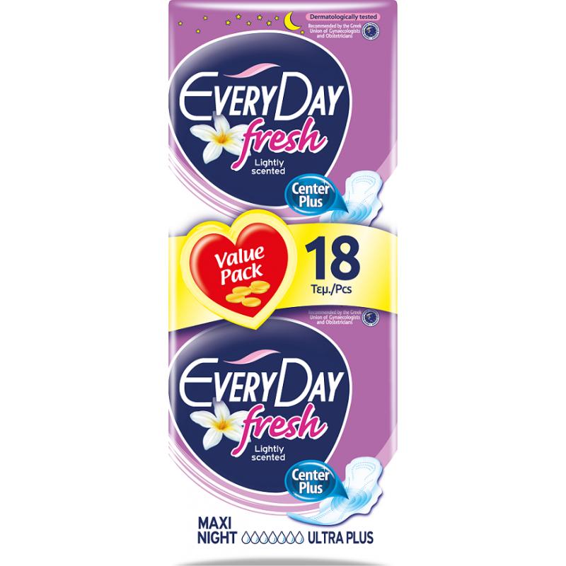 EveryDay Ultra Plus Fresh Maxi Night 18 τεμαχίων