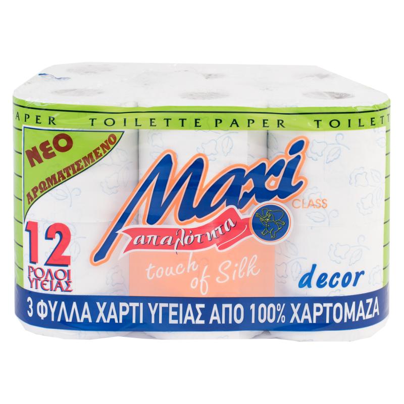 Χαρτί υγείας MAXI 3Φ DECO ΧΡΩΜΑ ΑΡΩΜΑ 12ΡΧ100gr