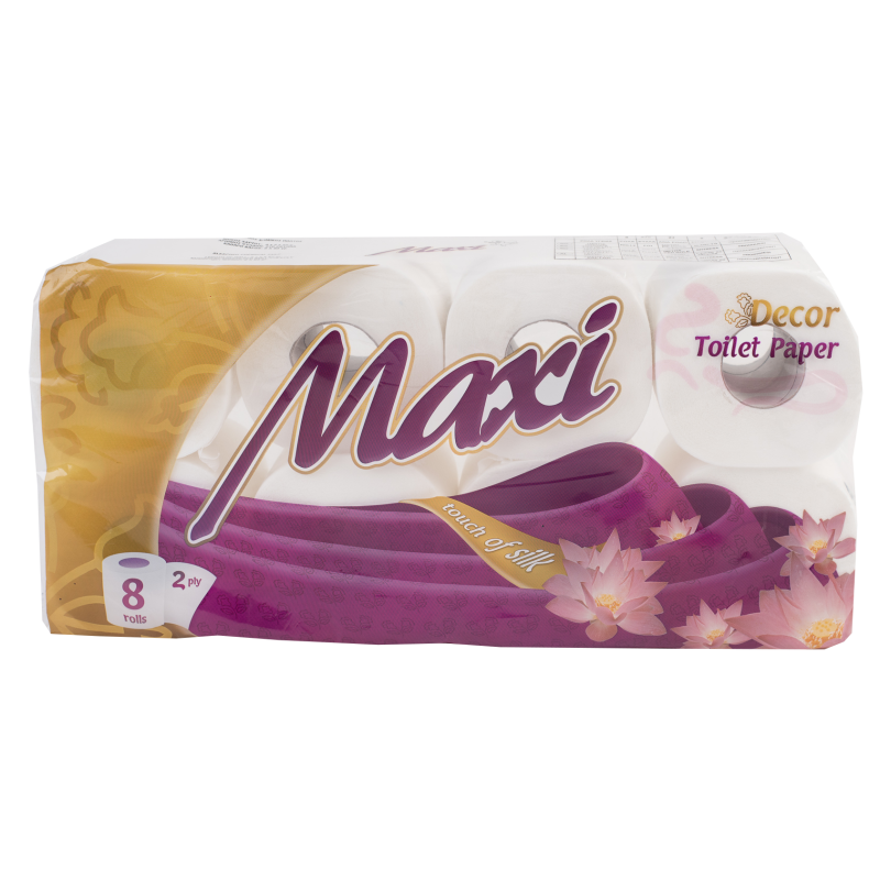 Χαρτί υγείας MAXI 2Φ DECO 8ΡΧ100gr FLAT (ΣΥΣΚx8)