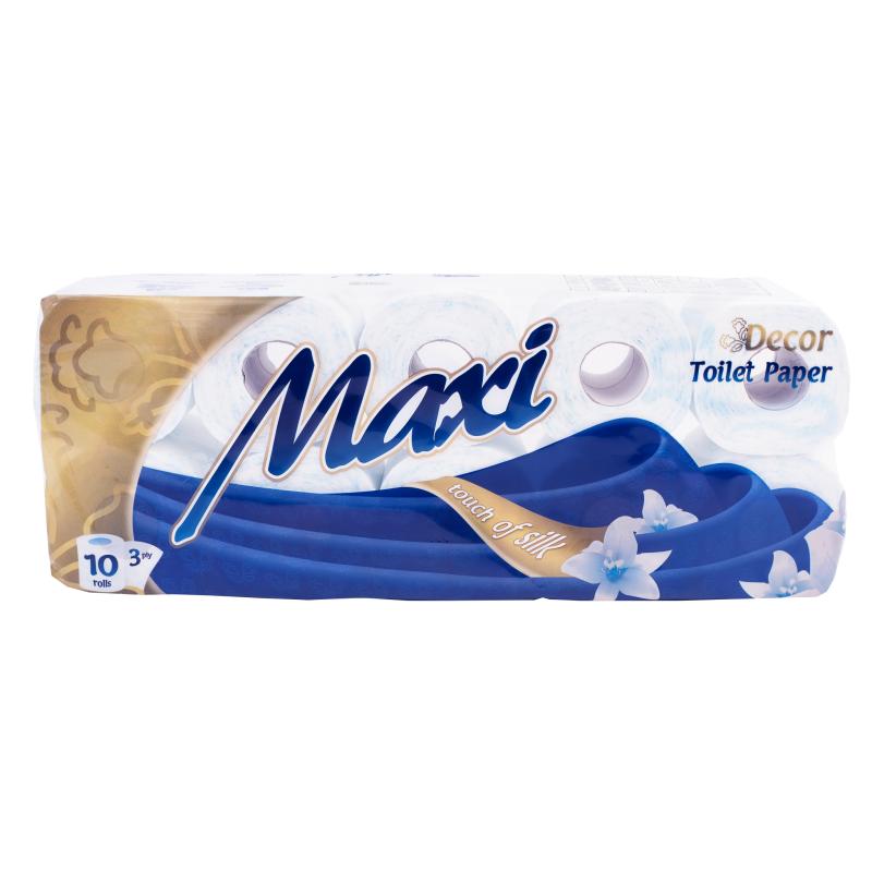 Χαρτί υγείας MAXI 3Φ DECO ΧΡΩΜΑ 10ΡΧ100gr FLAT (ΣΥΣΚx7)