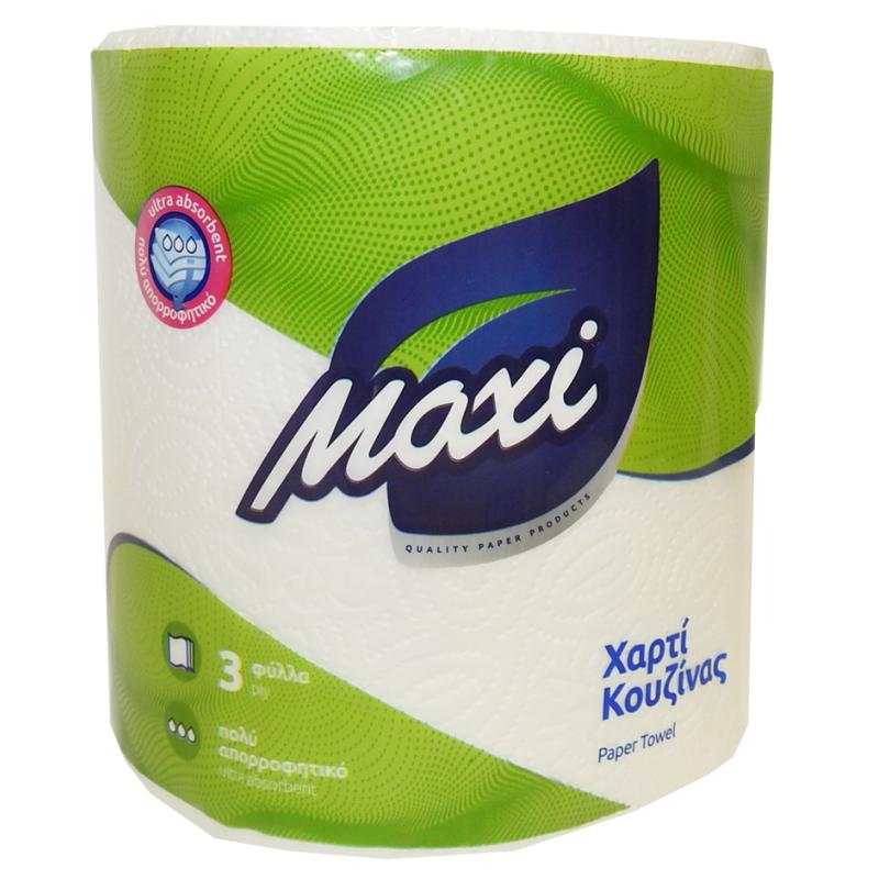 Χαρτί κουζίνας ΕΠΑΓ/ΚΟ MAXI 3Φ ΛΕΥΚΟ DESL 6ΡΧ600gr
