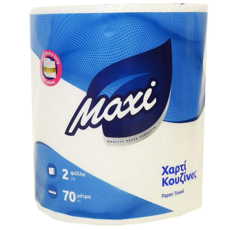 Χαρτί κουζίνας ΕΠΑΓ/ΚΟ MAXI Α! ΛΕΥΚΟ 700grX6