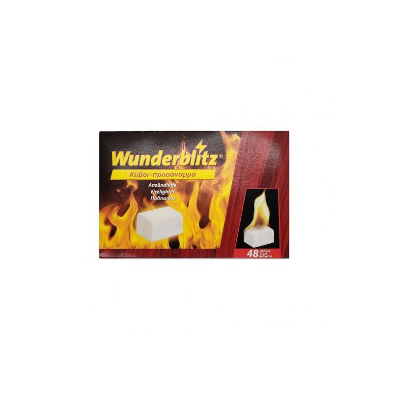 Wunderblitz Firelighters Κύβοι Προσάναμμα 48τμχ