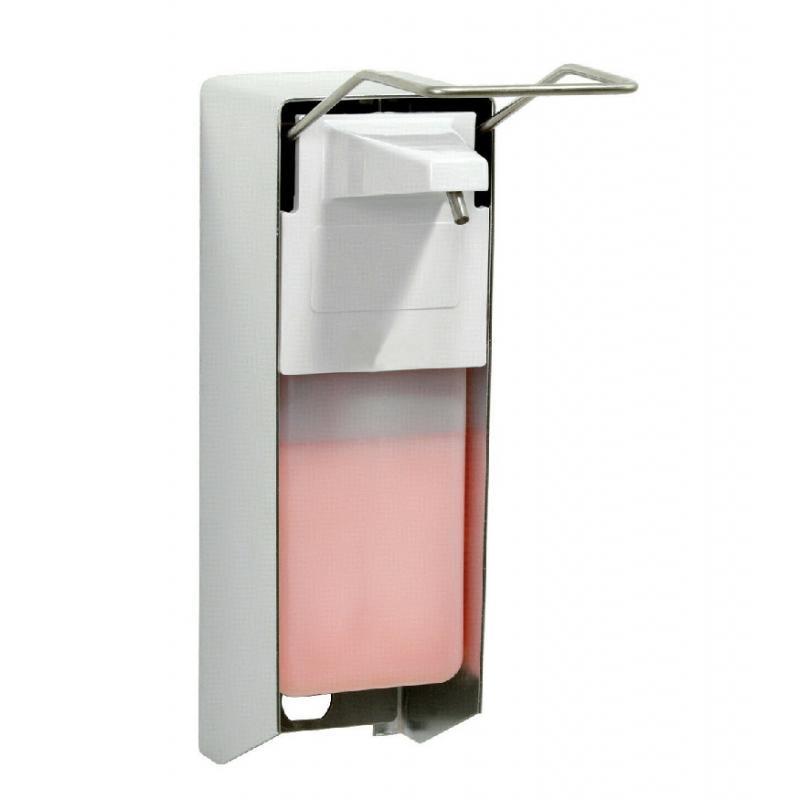 Συσκευή κρεμοσάπουνου 1000ml με κλειδί και μεταλλικό αγκώνα
