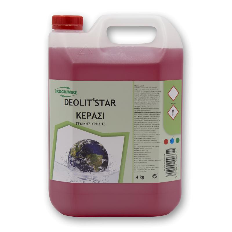 Καθαριστικό Πατώματος DEOLIT STAR, ΚΕΡΑΣΙ 4 Kg