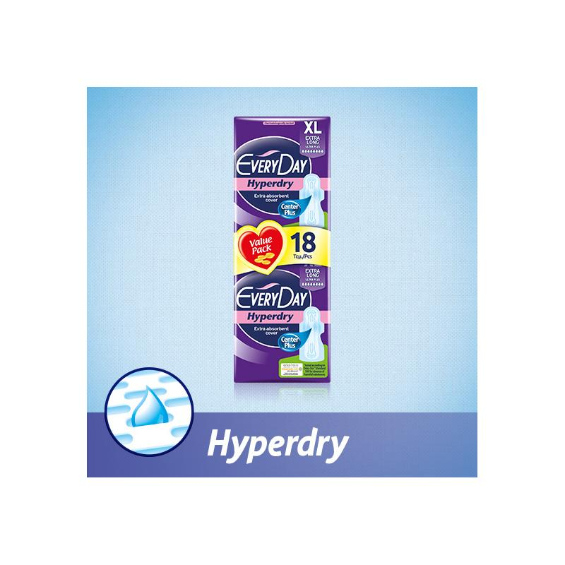 EveryDay Ultra Plus Hyperdry Extra Long 18 τεμαχίων