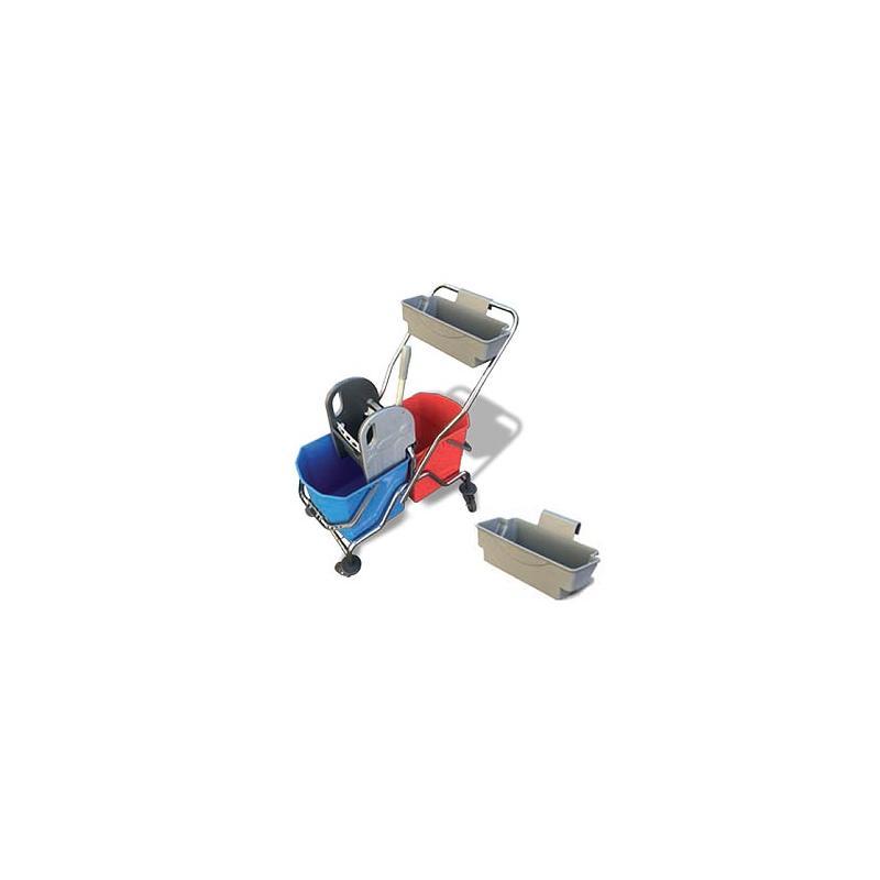 Καρότσι σφουγγαρίσματος διπλό μεταλικό 25L+25L