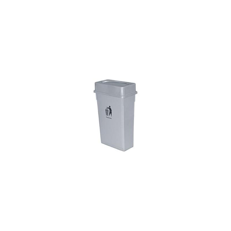 Κάδος πλαστικός με καπάκι PUSH 90L