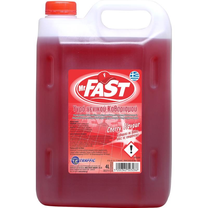 Υγρό Γενικής Χρήσης Mr Fast Cherry Flavour 4L.
