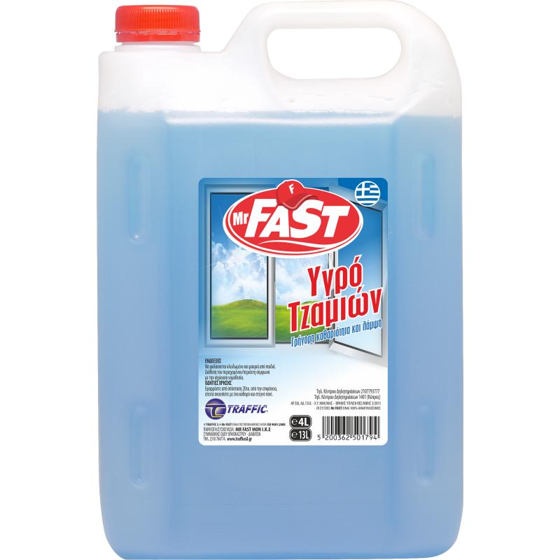 Mr Fast Υγρό Τζαμιών με άρωμα Γιασεμί 4L