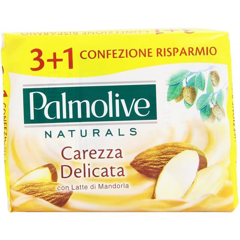 PALMOLIVE ΣΑΠΟΥΝΙ 90gr. (3+1 ΔΩΡΟ)-(CAREZZA DELICATA/MANDORLA)