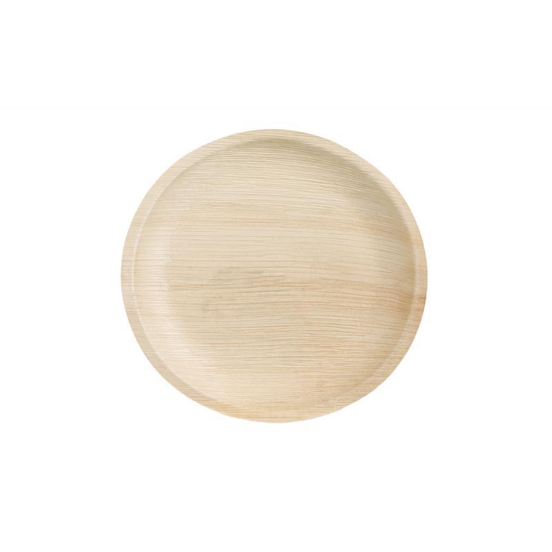Πιάτο στρόγγυλο από φύλλα φοίνικα 23 cm 25τεμ