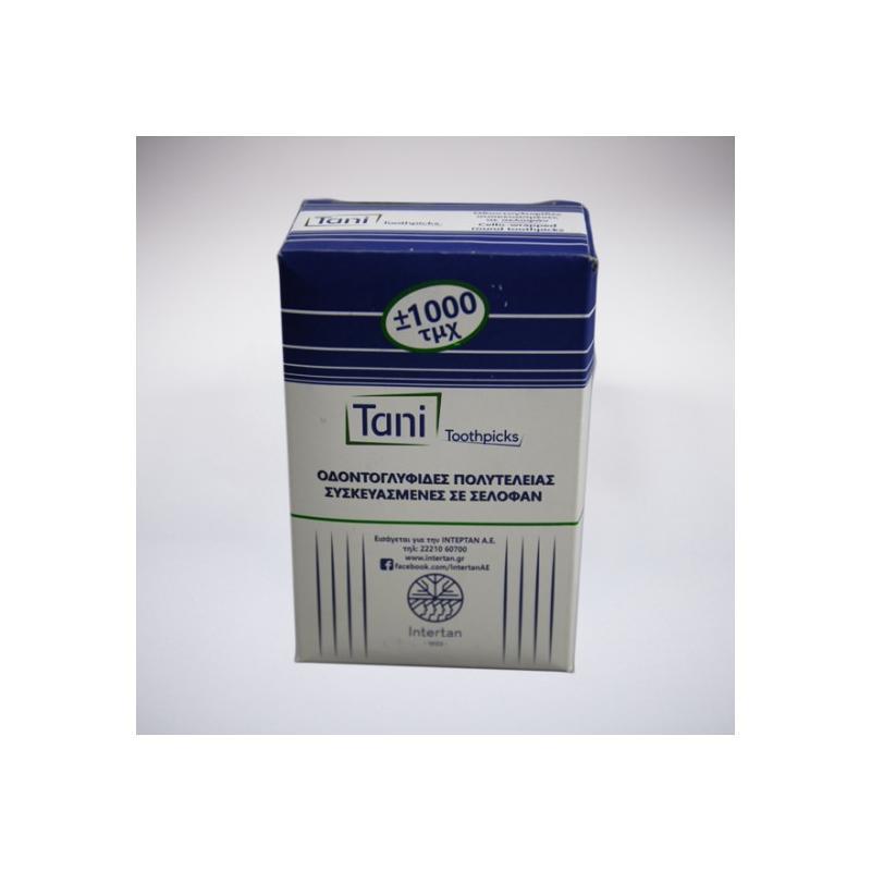 Οδοντογλυφίδες σελοφάν TANI 1000 τεμ